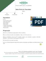 Bolo Fofo de Chocolate - 2010-09-14