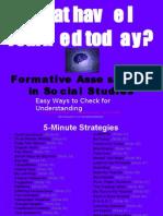 Formative Assessment in Social Studies