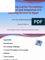 Investigating Learner Perceptions, Preferences and Adaptation of E-Learning Services in Egypt