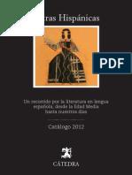 Catálogo Cátedra Letras Hispánicas