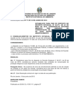 RESOLUÇÃO INEA Nº 71 - entorno imediato das unidades de conservação, disposto no Decreto nº 42471