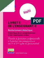 Haiti Livret 5 Didactique Oral