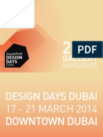 Design Days Dubai 2014 Gallery Highlights