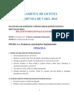 Tematica Licenta Rise 2013