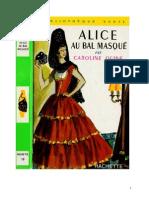 Caroline Quine Alice Roy 30 BV Alice au bal masqué 1953