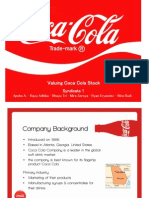 VALUING COCA COLA STOCK CASE