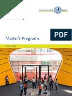 Master s Programs 2012