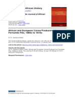 Clarence-Smith, W. G., 'African and European Cocoa Producers on Fernando Poo, 1880s to 1910s', The Journal of African History, 35 (1994), 179–199 <doi:10.1017/S0021853700026384>