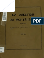 [1919] a. Radovitch, R. Bochkovitch, I. Voukotitch - La Question Du Montenegro