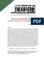 De Angelis - Marx y la acumulación primitiva