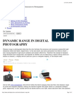 Understanding Dynamic Range in Digital Photography