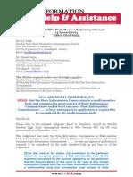 RTIFED Correspondence - 060 - 14 Jan 2014 - SICs to Hear Appeal as Multi Member Body