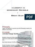 Philosophy in Secondary Schools