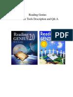 Reading Genius Software User Guide 3-10-06