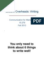 Writing Manag MIT