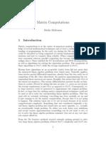 Iterative Matrix computation