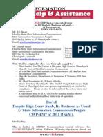 RTIFED Correspondence - 064B- 25 Jan 2014 - Despite HC Snub- Its Business as Usual at SICP - Part-2