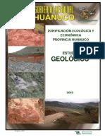Geologia de La Provincia de Huanuco