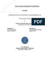 Banking mgmt system report file