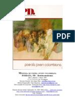 Poesía Joven Colombiana. Muestra. Posdata, México