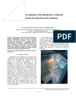 Experimental Investigation of the Refrigerator Condenser