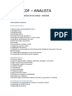 TCDF ANALISTA ORGANIZAÇÕES