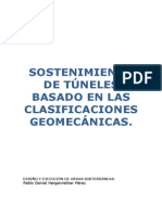 Sostenimiento de túneles basado en las clasificaciónes geomecánicas - Diseño y ejecución de Obras Subterráneas