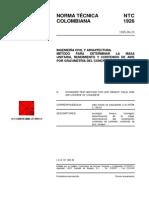 NTC1926 METODO PARA DETERMINAR LA MASA UNITARIA RENDIMIENTO Y CONTENIDO DE AIRE POR GRAVIMETRIA DEL CONCRETO.pdf