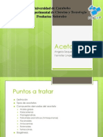 Productos Naturales. Acetatos
