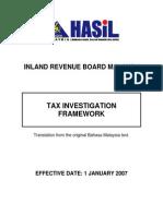 Tax Investigation Framework