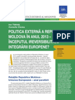 Politica externa a Republicii Moldova in anul 2013