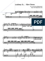 Slow Down (The Academy Is...) sheet music