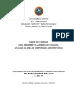 Medición de eficiencia en el rendimiento estudiantil UDO.Arquitectura