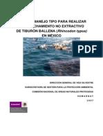 PLAN DE MANEJO TIPO DE TIBURÓN BALLENA