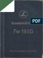 Ersatzteilliste FW 190 D-9
