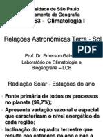 Radiacao Solar Estacoes Do Ano
