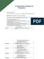 Máster en Dirección y Gestión de Proyectos