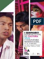 I Seminario Internacional de Cultura Viva Comunitaria