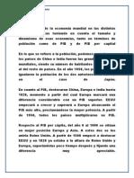 HISTORIA ECONÓMICA MUNDIAL FUNDAMENTOS DE ECONOMIA OK