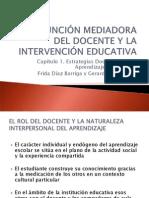 LA FUNCIÓN MEDIADORA DEL DOCENTE Y LA INTERVENCIÓN
