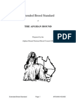 Breed Standard Extension of the Afghan Hound National Breed Council