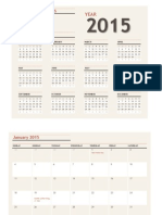 Any Year Calendar With Holidays 2015