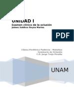 Elaboracion de Hisoria clinica en oclusion