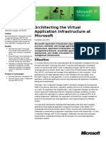 App v Architect Ing the Virtual Application Infrastructure at Microsoft