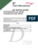Installation Manual FR-D700 SPA