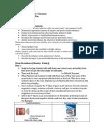 Nutrition Unit Plan