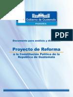 Reformas a La Constitucion Propuestas Por Presidente Perez Molina