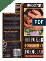 Arnold Snyder Poker tournament formula 2
