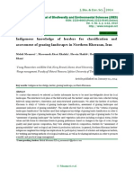 Indigenous knowledge of herders for classification and assessment of grazing landscapes in Northern Khorasan, Iran
