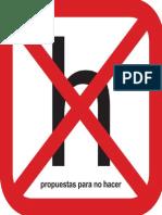 Propuestas Para No Hacer - Ed. Clismón